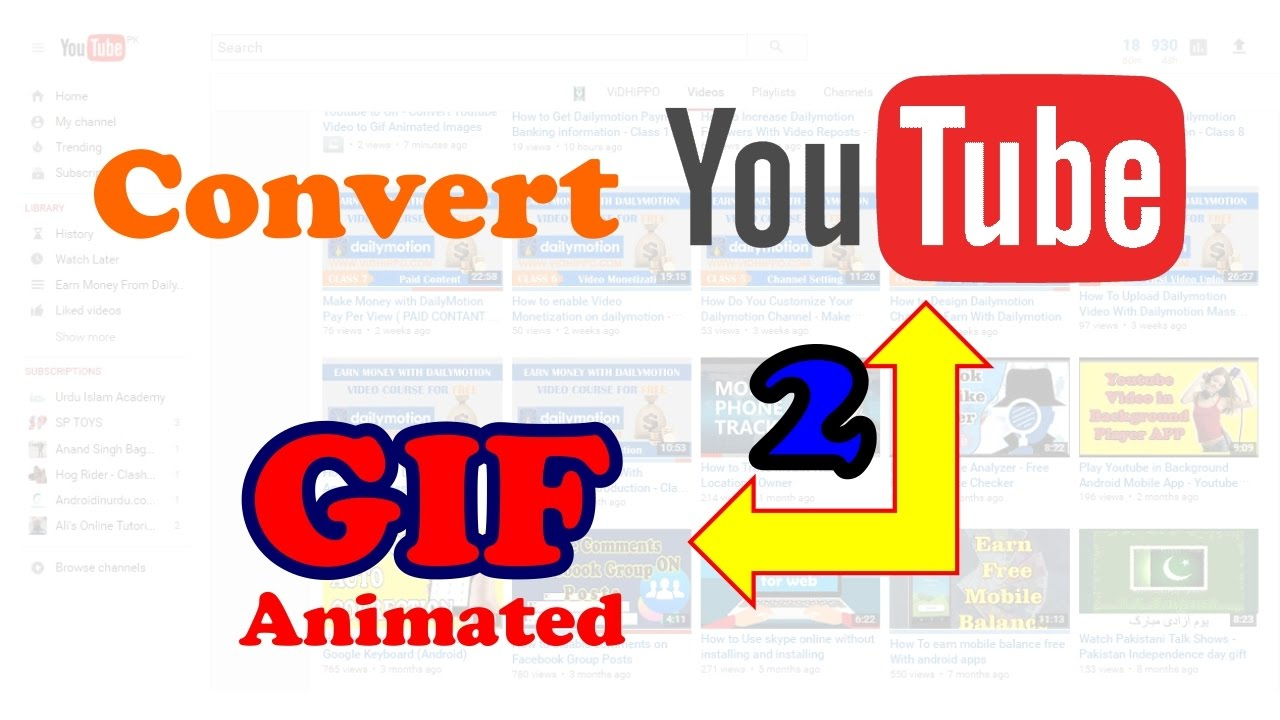 convert youtube to gif online free