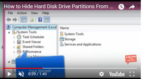hide hard drive partitions