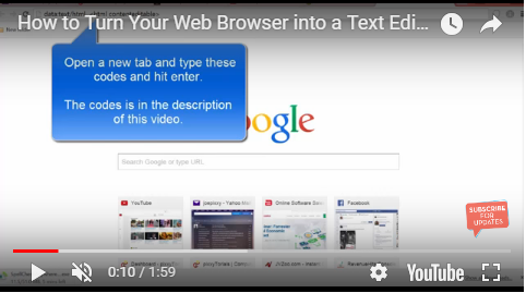 turn your webpage browser into a text editor
