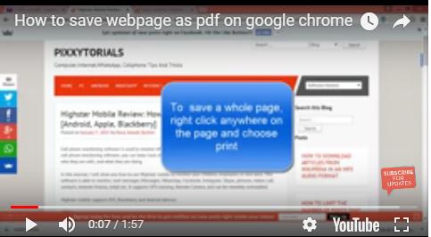 save webpage as pdf on google chrome