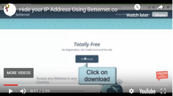hide ip address free online using betternet.co