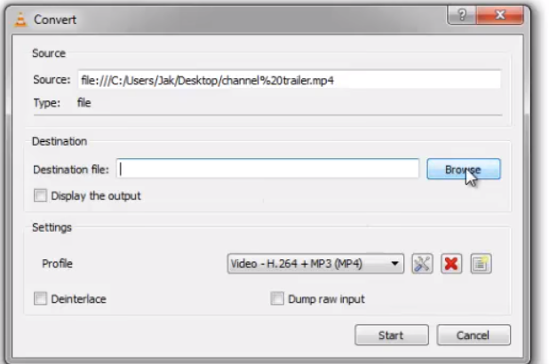 convert mp4 to mp3 with vlc