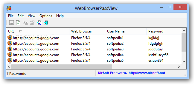download saved password on Chrome or Firefox