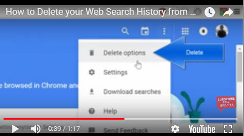 delete your Google search history